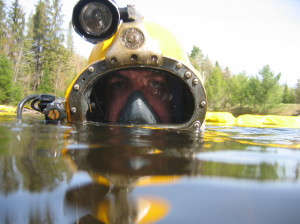 East Dive Ltd. diver repairing underwater pipeline.